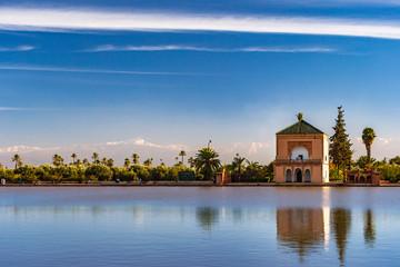 Foto op Aluminium Marokko Menara Gardens in Marrakech, Morocco