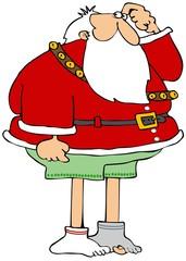 Santa lost his pants