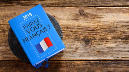 Fotorolgordijn Kikker livre dictionnaire : parlez-vous français ?