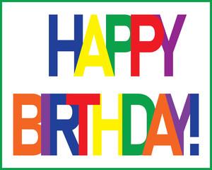 Birthday-Primary Colors