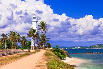 Landmarks of Sri - Lanka - lighthouse in Galle fort, south of island
