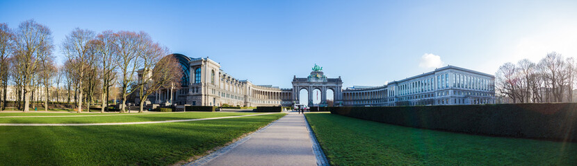 triumphal arch and jubelpark brussels belgium high definition panorama