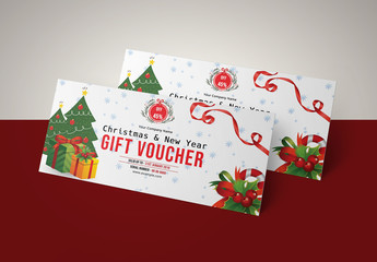 Christmas Themed Gift Voucher Layout