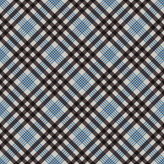 Plaid Seamless Pattern - Plaid design in colors of blue and brown