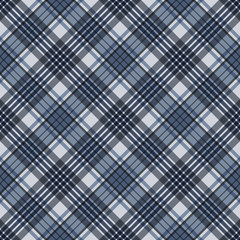 Plaid Seamless Pattern - Plaid design in colors of slate gray and blue