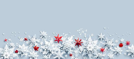 Fotomurales - Stars and snowflakes