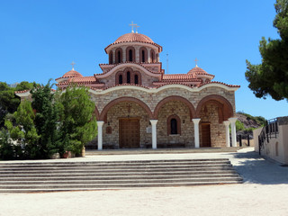 Europe, Greece, close to Loutraki there  are many beautiful churches