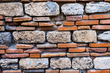 Old and ancient brick wall. Grunge textureed background