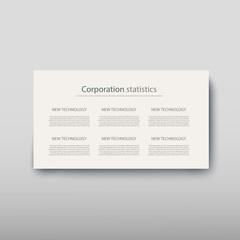 Poster infographics information business modern design set proposal advert
