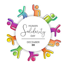 Wall Mural - Solidarity Day illustration with diversity people
