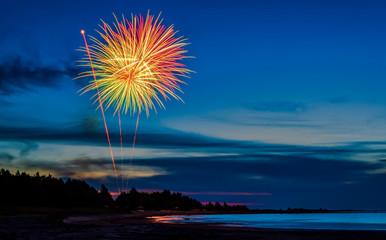 Fireworks at beach