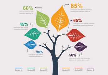 Tree Leaves Infographic Layout