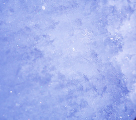 snowflake in the snow, winter background, macro closeup