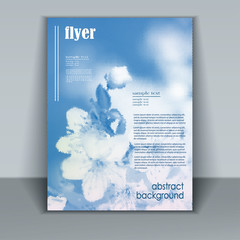 flyer with flowers