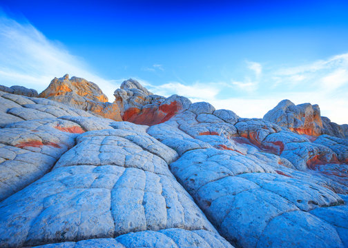Stunning landscape at White Pocket, Vermilion Cliffs National Monument, Arizona
