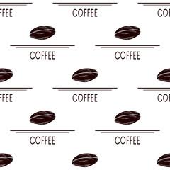 Coffee. Corn. Silhouette. Wallpaper, texture, seamless.