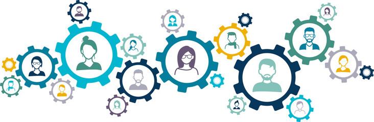 Fototapeta network of people - social network / teamwork / customer relationships obraz