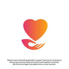 Love Care Creative logo concepts, Heart Care logo, elements and symbols, template - Vector