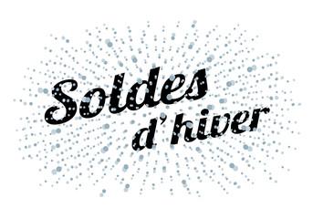 SOLDES D'HIVER AVEC CHUTE DE NEIGE