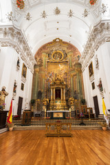 Interior of San Ildefonso Church or Jesuit church (Iglesia de San Idelfonso), Toledo, Spain.