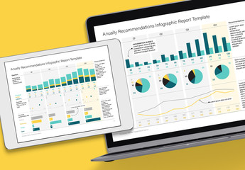Editable Annual Infographic Template