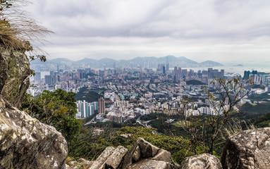 Hong Kong China Lion Rock Panorama