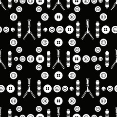 Sewing and needlework seamless pattern.