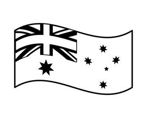 australia flag patriotic on white background