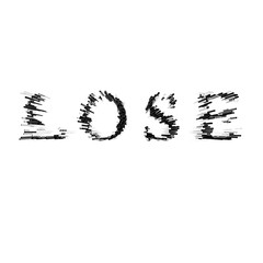 3d text illustration depth effect lose