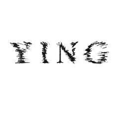 3d text illustration depth effect ying