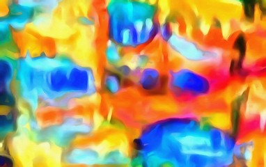 High resolution abstract meditative background. Colorful psychedelic watercolor texture. Flowing neon bright colors graphic pattern.