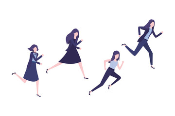 business women avatar character