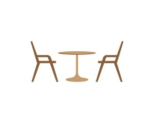Table chair symbol illustration