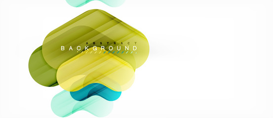 Colorful glossy arrows abstract background
