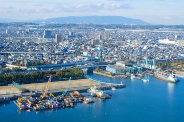 三重県四日市市の工業地帯