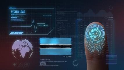 Finger Print Biometric Scanning Identification System. Botswana Nationality