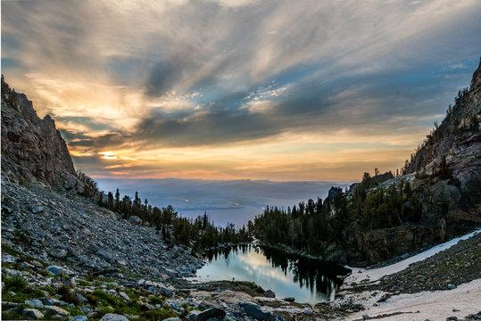 Grand Teton Hazy Sunrise