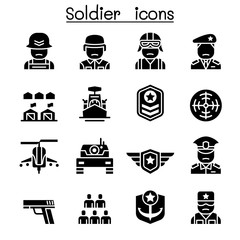 Soldier & Military icon set