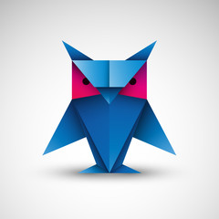 sowa origami logo wektor