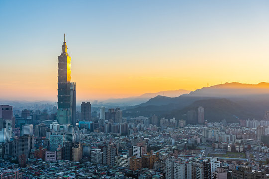 Beautiful architecture building taipei city