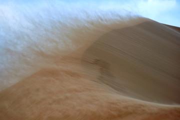 Sandstorm in desert. Sandstorm in the dunes. Wall mural