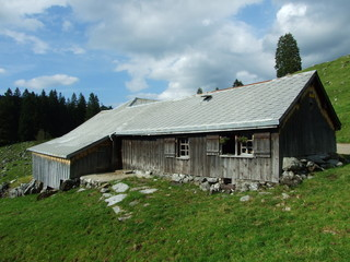 Alps architecture and farms of the Obertoggenburg region - Canton St. Gallen, Switzerland