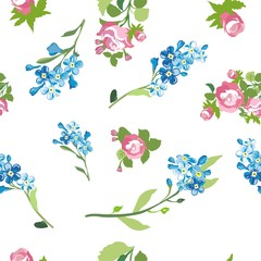 elegant floral seamless pattern background for your design