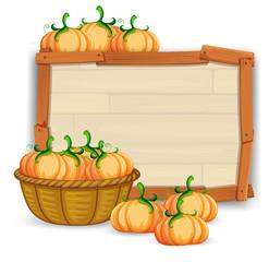 A pumpkin wooden board