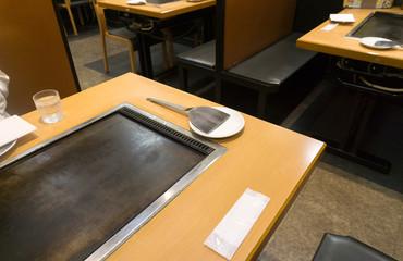 お好み焼き テーブル