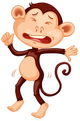 A crying monkey character