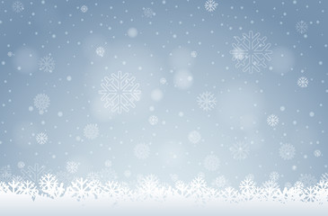 A white snowflake background