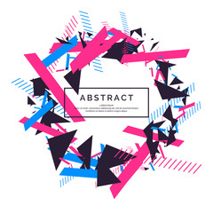 Trendy abstract background. Composition of geometric shapes