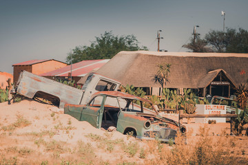 Old broken cars in Africa