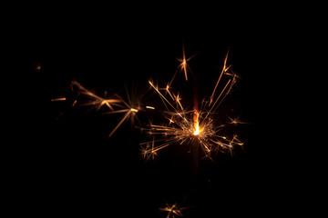 sparkler [firework] black background